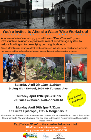 Water Wise Workshops April 2018