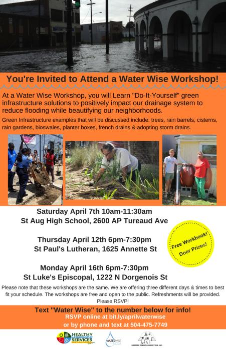 Water Wise Workshops April 2018