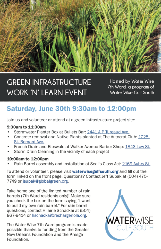 Work & Learn Event flyer